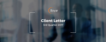 The Boyar Value Group's 3rd Quarter 2017 Client Letter